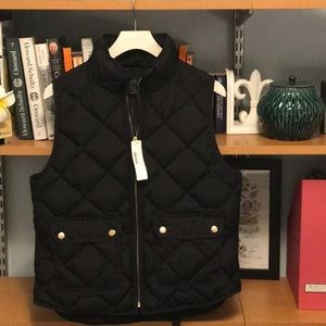 Excursion JCrew Quilted Puffer vest (down filled)